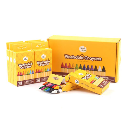 Washable Crayons - 12 Pack-Lilypond Kids