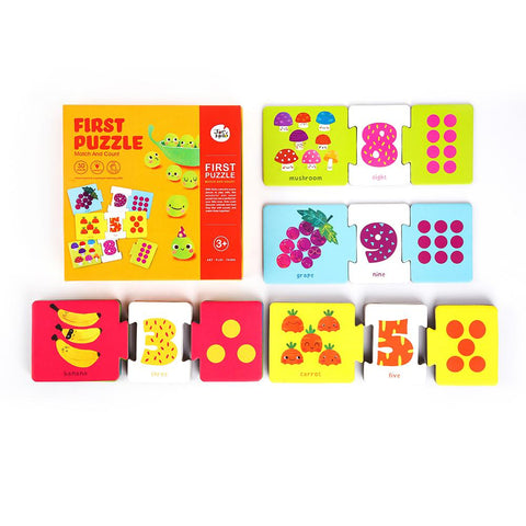 First Puzzle - Match And Count-Lilypond Kids