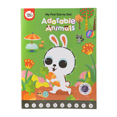 My First Dot-to-Dot Drawing Book - Adorable Animals-Lilypond Kids