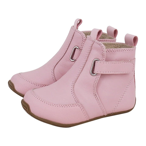 Toddler Oxford Boots in Pink-Lilypond Kids