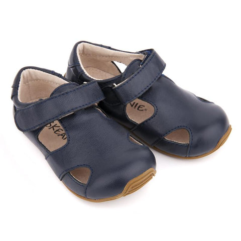 Toddler Leather Sunday Sandals Navy-Lilypond Kids