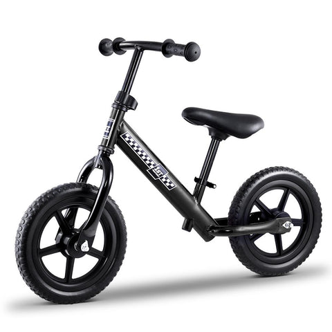 "Kids Balance Bike 12"" Wheels - Black-Lilypond Kids"