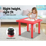 Keezi 5 Piece Kids Table and Chair Set - Red-Lilypond Kids