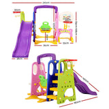 Keezi Kids 7-in-1 Slide Swing with Basketball Hoop-Lilypond Kids