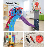 Keezi Kids Slide with Basketball Hoop-Lilypond Kids