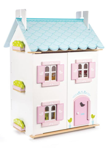 Le Toy Van Daisylane Blue Bird Cottage with Furniture-Lilypond Kids