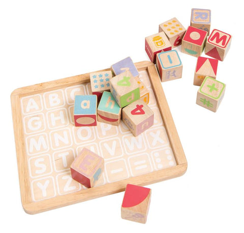 Petilou ABC Wooden Blocks-Lilypond Kids