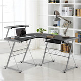 Three-piece Computer Desk Black-Lilypond Kids