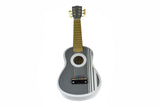 Wooden Guitar 54cm Terrace Grey-Lilypond Kids