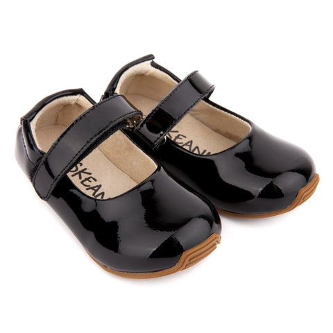 Mary-Jane Junior Walker Shoes Patent Black-Lilypond Kids