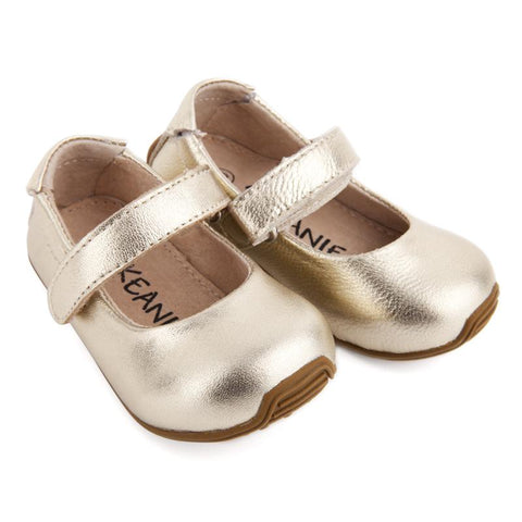 Mary-Jane Shoes Gold-Lilypond Kids