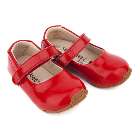Mary-Jane Junior Walker Shoes Patent Red-Lilypond Kids
