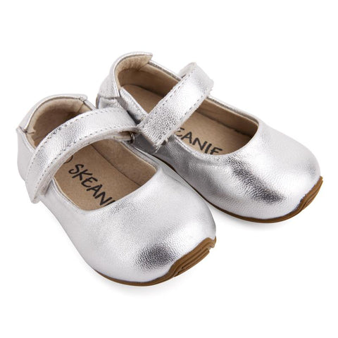 Mary-Jane Junior Walker Shoes Silver-Lilypond Kids