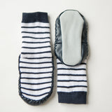 Moccasin Socks Blue/Grey & Navy/White 2 Pack-Lilypond Kids