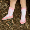 Socks Leather & Cotton Moccasin Pink-Lilypond Kids