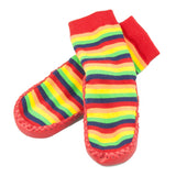 Socks Leather & Cotton Moccasin Rainbow-Lilypond Kids