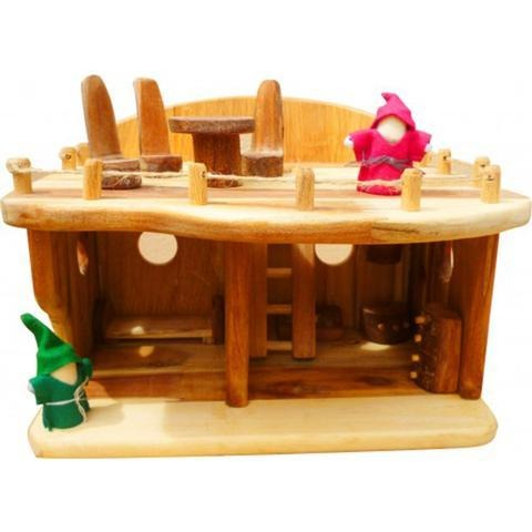 Medium Wooden Dollhouse-Lilypond Kids