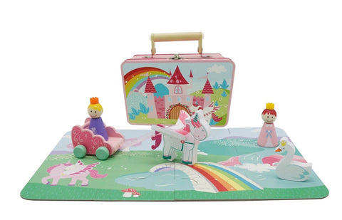 Unicorn Playset in Tin Case-Lilypond Kids