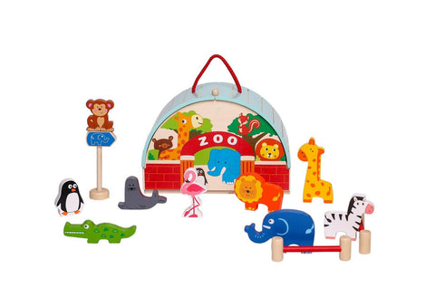 Zoo Playset With Carry House-Lilypond Kids