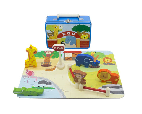 Zoo Playset In Tin Case-Lilypond Kids