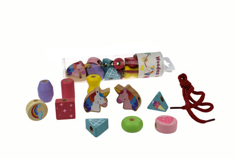 Wooden Unicorn Lacing Bead Set In Tube-Lilypond Kids