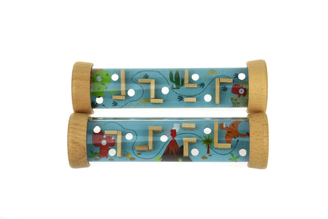 Wooden Dinosaur Labyrinth In Tube-Lilypond Kids