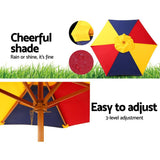 Kids Wooden Picnic Table Set with Umbrella-Lilypond Kids