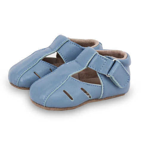Pre-walker Dakota Leather Shoes in Blue-Lilypond Kids