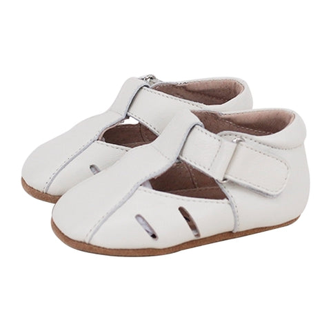 Pre-walker Dakota Leather Shoes in Ivory-Lilypond Kids
