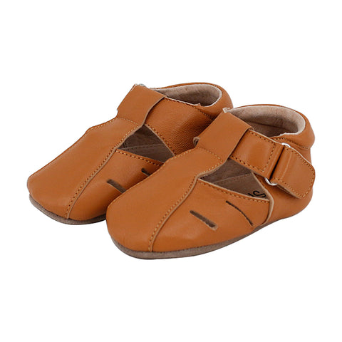 Pre-walker Dakota Leather Shoes in Tan-Lilypond Kids