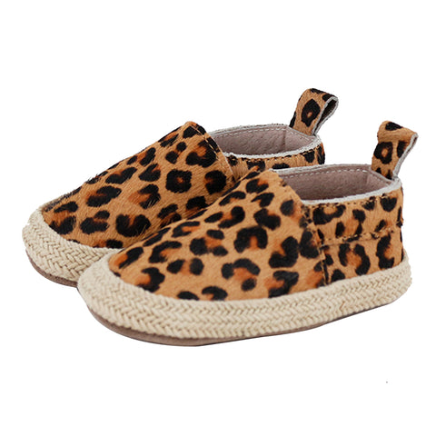 Pre-walker Leather Espadrilles Leopard-Lilypond Kids
