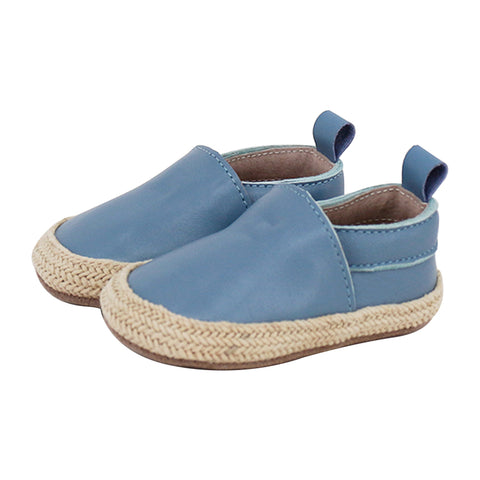 Pre-walker Leather Espadrilles Blue-Lilypond Kids