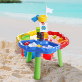 Keezi Kids Beach Sand and Water Outdoor Play Table-Lilypond Kids