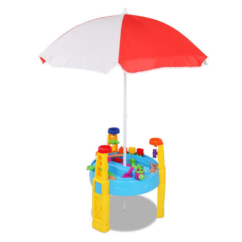 Keezi 26 Piece Kids Umbrella & Table Set-Lilypond Kids