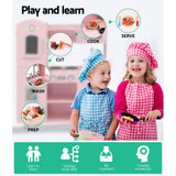 Keezi Kids Wooden Kitchen Set - Pink-Lilypond Kids