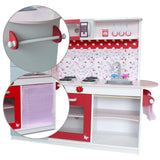 Children's Wooden Kitchen Play Set w/ Fridge Pink - Lilypond Kids