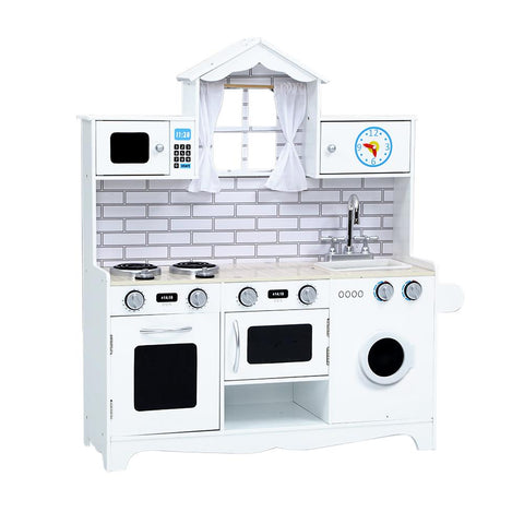 Keezi Kids Kitchen Set - White-Lilypond Kids