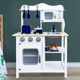 Keezi 18 Piece Kids Kitchen Play Set - White-Lilypond Kids
