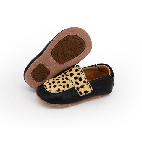 Pre-walker Leather Loafers Black Leopard-Lilypond Kids