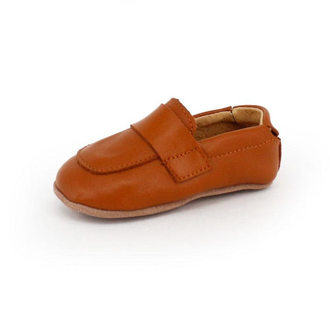 Pre-walker Leather Loafers Tan-Lilypond Kids