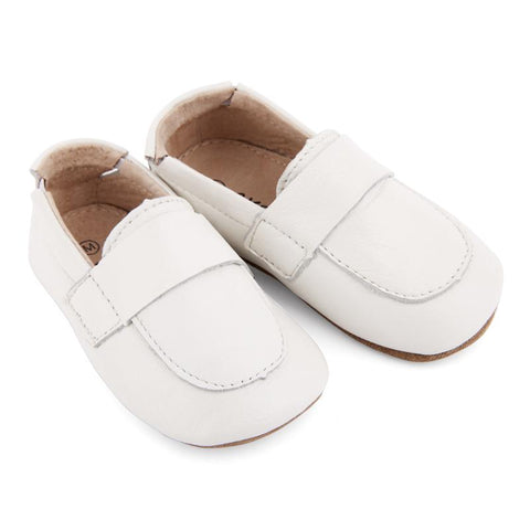 Pre-walker Loafers in White-Lilypond Kids