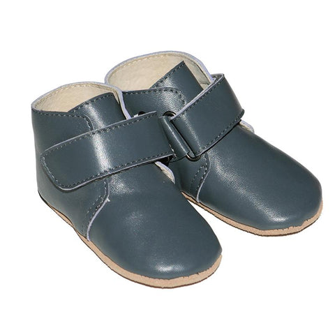 Pre-walker Oxford Boots in Grey-Lilypond Kids