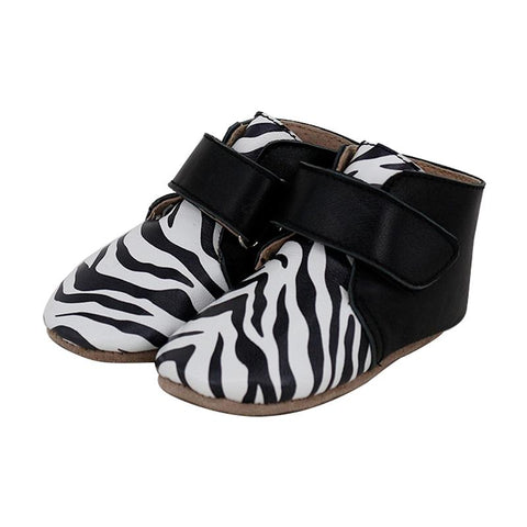 Pre-walker Leather Oxford Boots Zebra-Lilypond Kids