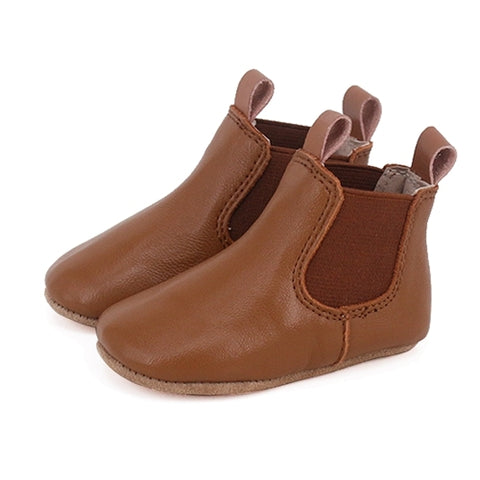 Pre-Walker Leather Riding Boots Tan-Lilypond Kids