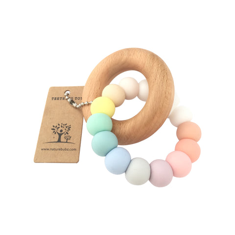 Nature Bubz Pastel Rainbow Teether - Lilypond Kids