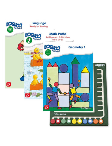 LOGICO Piccolo - Starter Package: 3 books and 1 board (6+)-Lilypond Kids