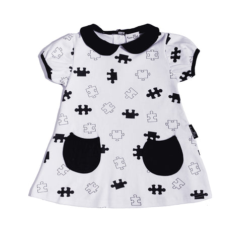 Puzzled Tunic Dress-Lilypond Kids