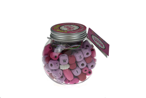 Yum Yum Pink Sugar Berry Alphabet Bead Kit-Lilypond Kids