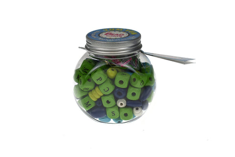 Yum Yum Blue Blizzard Alphabet Beads Kit-Lilypond Kids