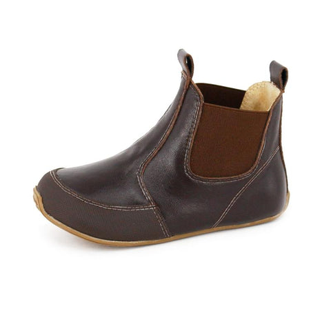 Toddler Leather Riding Boots Chocolate-Lilypond Kids